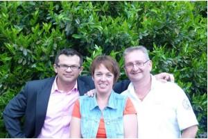 Andreas Scholz mit Susanne und Christoph Schmitt